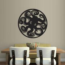 Wall Decal Octopus Tentacles Circle Ocean Sea Animal bedroom M243