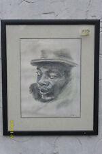 """Disegno a Matita da Catherine Wilson, """"studio in nero""""."""