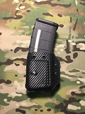 Black Carbon Fiber Kydex Magpul Pmag .223 5.56  AR Magazine K-Carrier