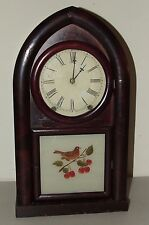 Antique Working 1860's Wm. L. Gilbert Mahogany Rosewood Beehive Mantel Clock