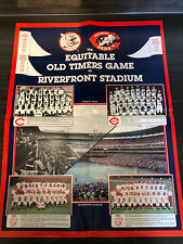 1986 Equitable Old Timers Game Cincinnati Reds Poster 22x17 1956 1961 1975 1976
