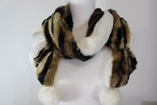 Ladies Scarf Faux Fur Two Sided Super Soft Animal Print