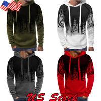 Winter Men Outwear Sweater Fit Jumper Pullover Hooded Hoodie Coat Jacket Tops US