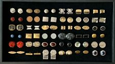 Wholesale Lot 36 Pairs Vintage Cufflinks Gemstones Coins Novelty Collect Resell