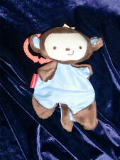 Fisher Price Take Along Ring Clip Stroller Toy Monkey Security Blanket Rattle