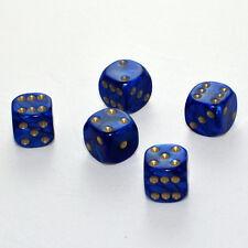 100 Stück 16mm Perlmutt Blau Knobel Würfel / Augen Würfel Spielwürfel von Frobis