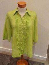 Gorgeous Sz 20 Lime Green Insalata Designer Over Shirt