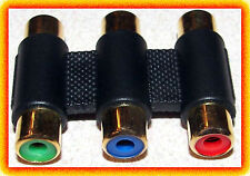 Ultra Gold COMPONENT Video Coupler Adapter Female x 2 RGB RCA connector analog