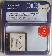 76386 MP vous sl65 SB mobilfunkakku Goobay pour Siemens sl65 700 mAh 3,6 V Li-Ion