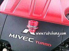 2008 TO 2017 MITSUBISHI LANCER EVO X BILLET ALUMINUM RALLIART OIL FILLER CAP RED