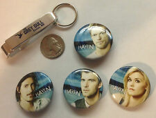 SDCC 2013 HAVEN EXCLUSIVE BUTTONS SET,BOTTLE OPENER ,2 TATOOS & POSTER GREY GULL