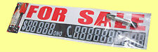 For sale car sign  $  Phone n. WITH MARKER PEN  Cars Boat ( Label Sticker Decal)