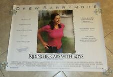 Riding In Cars With Boys movie poster - Drew Barrymore poster - original UK quad