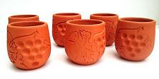 tazas de cerámica 6 piezas juego hecho a mano Quemado DECORACIÓN HOGAR, UVA