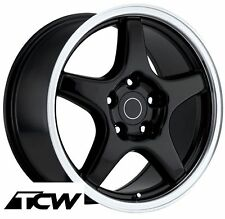 "17"" 17x9.5"" inch Corvette C4 ZR1 OE Replica Gloss Black Wheels Rims fit C4 84-87"