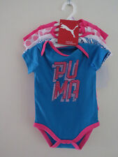 PUMA - 5 PIECE BODYSUIT SET 6 - 9 MONTHS NEW WITH TAGS NEWBORN BABY PINK ROMPER