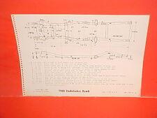 1960 STUDEBAKER HAWK SPORT COUPE V-8 SIX CYLINDER FRAME DIMENSION CHART