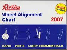 2007 Rellim Wheel Alignment Chart Cars 4WDs light Commercials