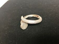 Diamond Nail Eternity ring (2.5 carats) 14k solid white gold