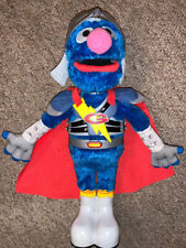 "Sesame Street Flying Super Grover 2.0 Talking Singing Hasbro Interactive Toy 15"""