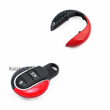 (1) JCW Style Remote Smart Key Fob Holder Cover For 3rd Gen MINI Cooper F55 F56