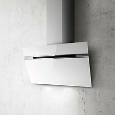 Elica Ascent Wall Mounted Hood 90cm White Glass PRF0101145