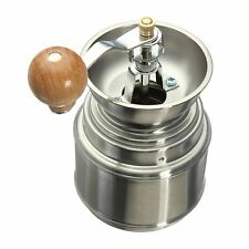 Stainless Steel Manual Spice Bean Coffee Grinder Burr Grinder Mill X8P7