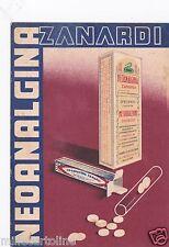 """# PUBBLICITARIA MEDICALE: """"NEOANALGINA"""" - ZANARDI - 1935"""