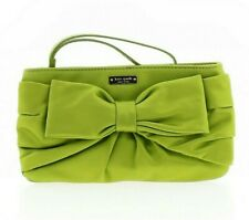 Kate Spade NY Plaza Bow Pouch Wristlet Peridot Green PWRU1232B New with Tags
