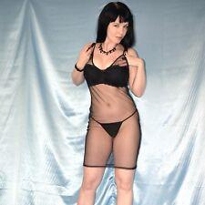 ein Hauch KLEID in schwarz* M 42 transparentes Minikleid* Tüllkleid durchsichtig
