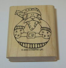 Santa Claus Rubber Stamp New Round Belly Stampin' Up! Jolly Old Elf Roly Poly