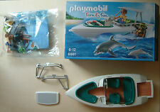Playmobil 6981 Sportboot/ Family Fun/ Yacht/ Boot+Delfine/ Boat/ NEUWERTIG/MINT