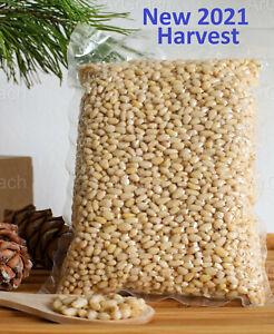 Organic Pine Nuts 2021 Harvest Raw Vacuumed Peeled Pinon nuts Pinoli 800g