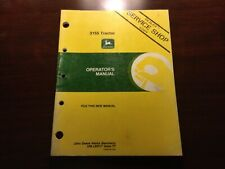 John Deere 3155 Tractor Operators Manual