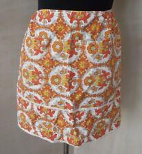 Genuine vintage 1950's 1960's apron psychedelic print cotton
