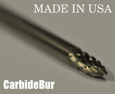 """New listing New 1/8"""" Tree Point Solid Carbide Bur Tool Bit for Die Grinder Sg-41 Dbl"""