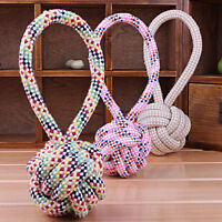 1PC Chew Toy with Knot Tough Strong Puppy Dog Pet Play Cotton Rope Ball Toys  Z