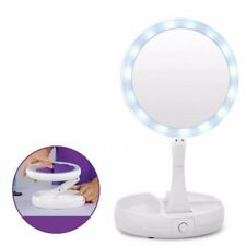 New Fold-Away Mirror Lighted Double Sided Vanity Makeup Mirror LED illuminated