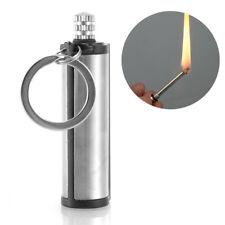 1x Stahl Feuer Starter Match Feuerzeug Keychain Camping Notfallausrüs Z1X1