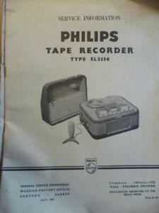 Philips  EL3536  Tape Recorder Original Service Manual