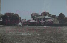 "PRINT 10"" X 7""  SILCHESTER  - SHOWING CROWN PUB BERKSHIRE c1908"