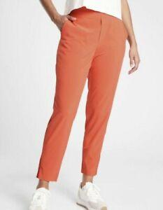 ATHLETA Brooklyn Ankle Lightweight Travel Pant Orange OGHZ Women Size 14 NWT