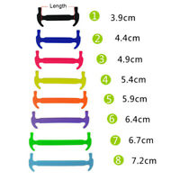 16x LAZY NO TIE ELASTIC SILICONE SHOELACES FOR SNEAKERS RUNNING SHOES BOOTS Atom