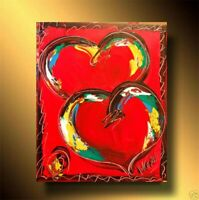RED HEARTS  FINE ART     Abstract Modern CANVAS Original  ARTWORK NDFB