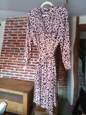 M&S Collection Size 18 Pleated Dress, Pink Mix Leopard Print