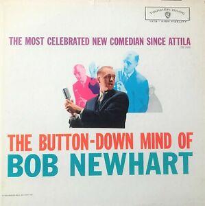 "Bob Newhart Button-down Mind of WB W1379 Record 1960 12"" Album 33 rpm vinyl LP"