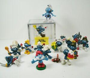 Vintage Smurfs Figures Lot PVC