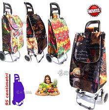 carrello per spesa con ruote borsa per portare la spesa spazioso e leggero