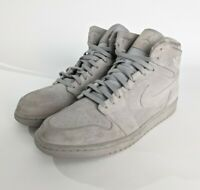 Nike Air Jordan 1 High Retro 332550-031 Wolf Grey Suede Men's Size 13