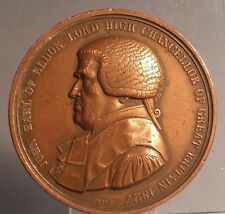 # 1827 John Earl of Eldon Lord High Chancellor bronze medal  By C VOIGHT F